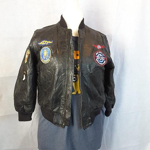 MA1 Leather Flight Jacket Medium