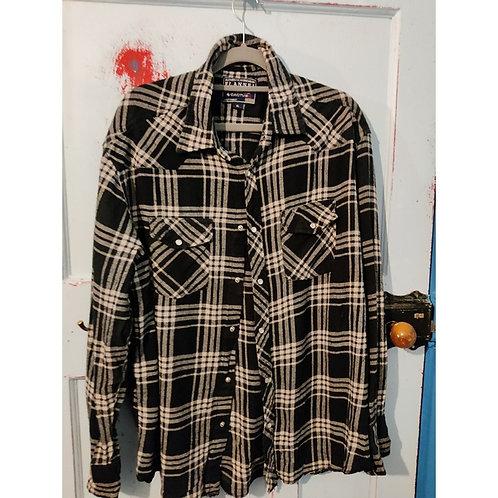 Vintage Check Shirt Men'sXL