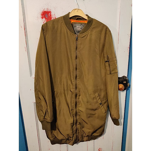 Bershka Long Flight Jacket Style -  large