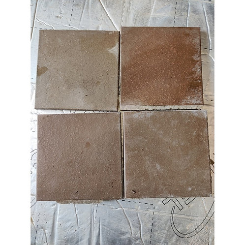 Glazed Brown Tiles -Victorian 29 whole ones