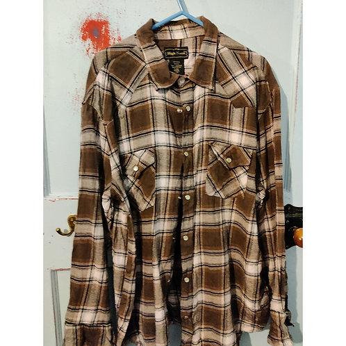 Vintage Check Shirt Men's SizeL