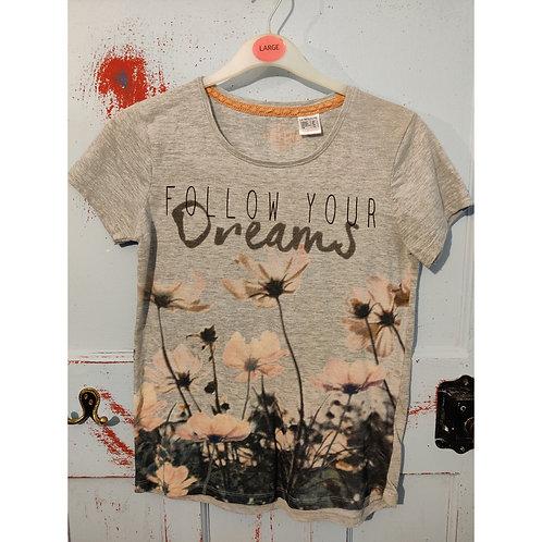 Follow Your Dreams T Shirt - Age 12/UK6