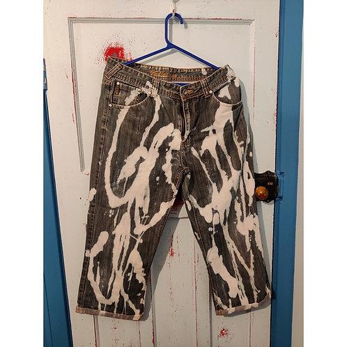 """Jeans Bleached Short Men's Size34"""""""