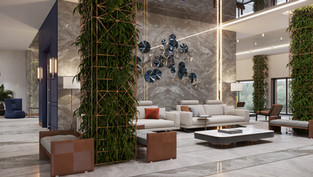 Lobby of Edelweiss residential complex