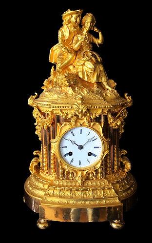 Fine 19th Century Ormolu Mantel Clock by Barromée Delépine