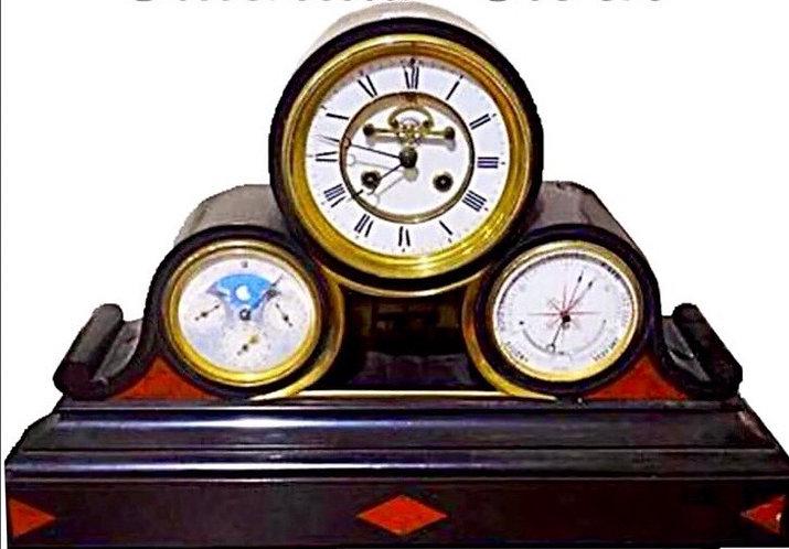 Japy Frerès Pepetual calendar clock
