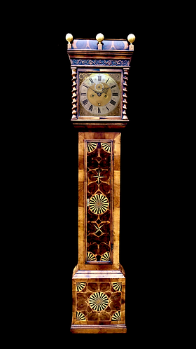 Walnut Yew Oystered Parquetry Clock by Jacobus Markwick Londini C.1695