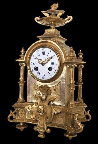 Philippe Mourey & Japy Fils 8 Day Ormolu Mantel clock
