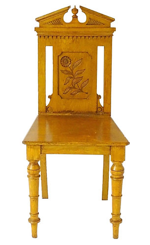 Late 19th Century Architectural oak Hall Chair