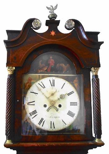 WHITMORE NORTHAMPTON OAK AND MAHOGANY GRANDFATHER LONGCASED CLOCK 1836