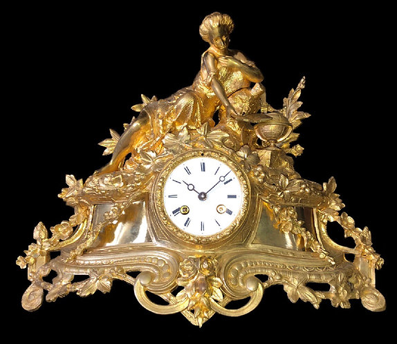 19th Century Louis XVI style Ormolu Mantel Clock