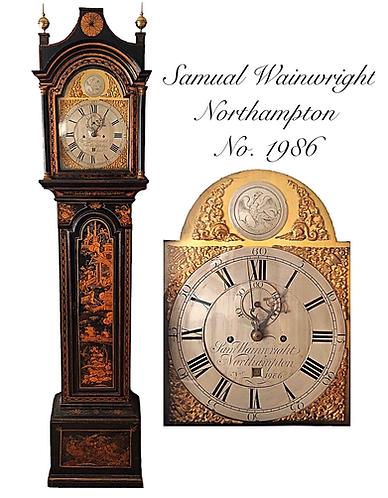 Samuel Wainwright Northampton Chinoiserie Longcase Clock