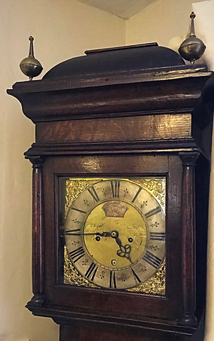 Early & Slim Longcase Clock by Everade Billington of Harborough (Market)