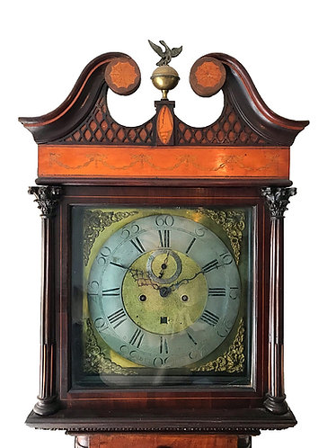 Genuine Irish Sheraton Period Grandfather Longcase Clock Barnaby Vizer Dublin
