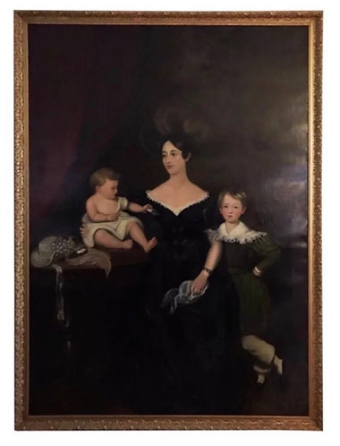 Huge Regency Oil on Canvas - Chandos-Pole