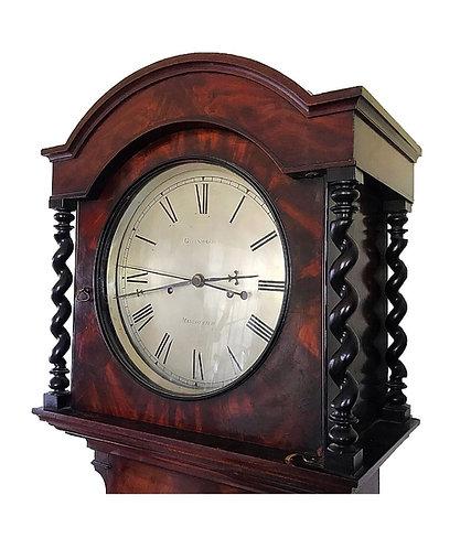 Mahogany Deadbeat Escapement Regulator Longcase Clock Greenhalgh of Manchester