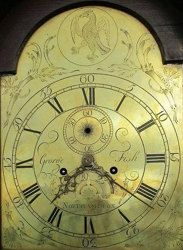 NORTHAMPTON GRANDFATHER CLOCK GEORGE FISH CIRCA 1760-70
