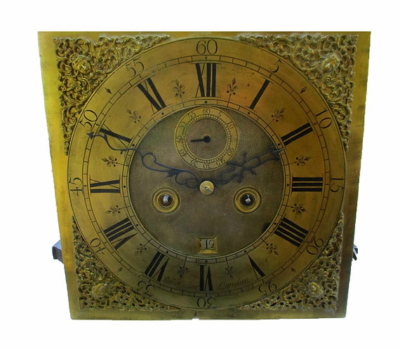EARLY LONDON LONGCASE CLOCK MOVEMENT BY SAMUEL HOLYER,