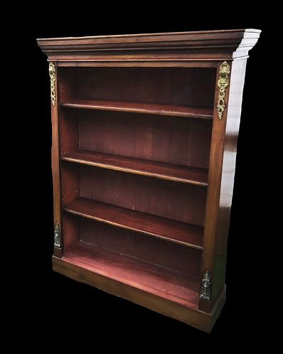 19th Century Mahogany Open Bookcase