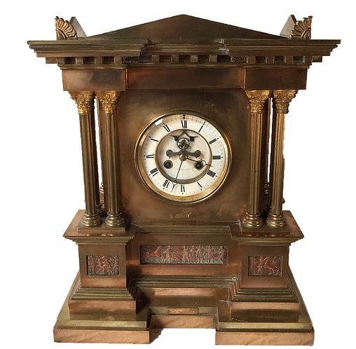 J W Benson Brocot Escapement Mantle Clock