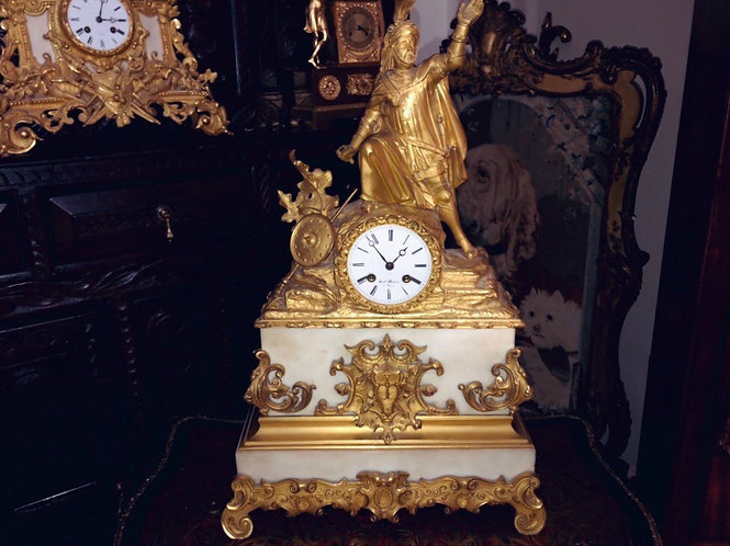 Fine Empire clock by Louis-Stanislas Lenoir-Ravrio and Henry Marc