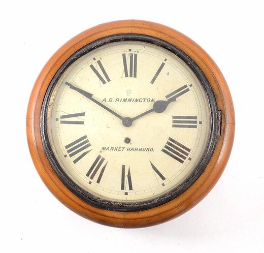 Round Dial Wall clock, Signed Rimmington, Market Harborough