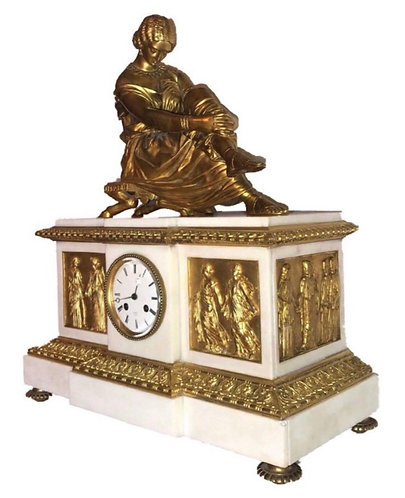 Napoleon III Empire Mantle Clock by Henri Picard - J. Pradier - Suisse Freres