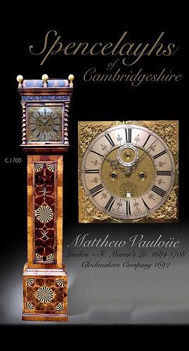 Walnut Yew Oystered Parquetry Clock by Matthew Vauloüé