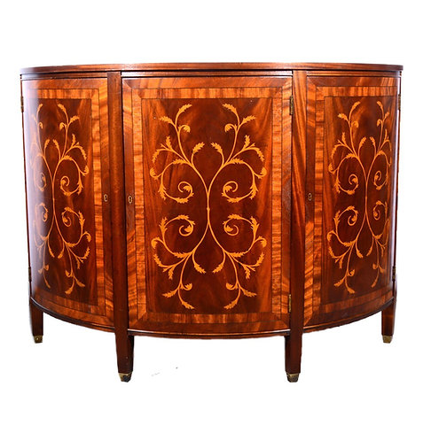 20th Century Marquetry Sideboard in the manner of Edwards & Roberts