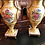 Thumbnail: Pair of hand painted Limoges vase lamps