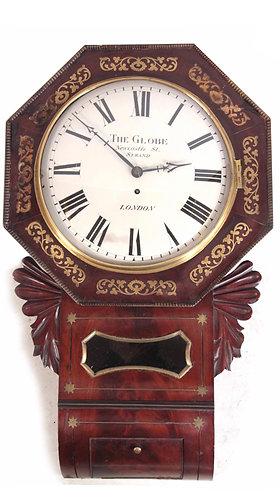 Flame Mahogany Single Fusee Wall Clock