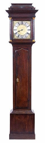George II oak longcase clock by Thomas Eayre of Kettering 1691-1757