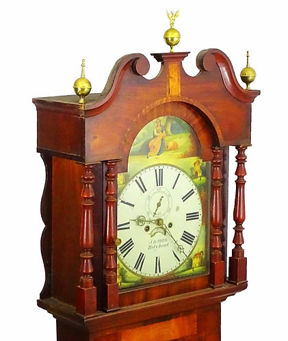 BADER OF HOLYHEAD early Victorian Mahogany 8 Day Longcase Clock