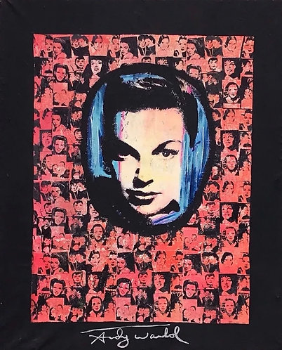 Pietro Psaier Andy Warhol Pop Art Acrylic Painting Screen Print Factory Stamped