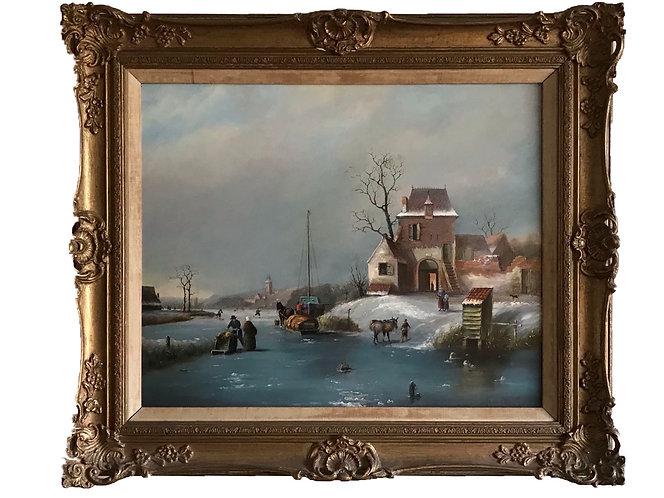 Charles Henri Joseph Leickert 'Oil on Panel'