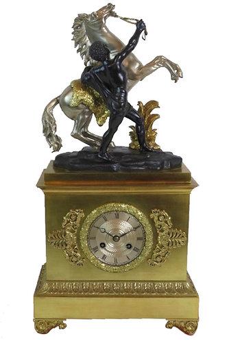Raingo Frères Napoleon III Gilt Mantel Clock