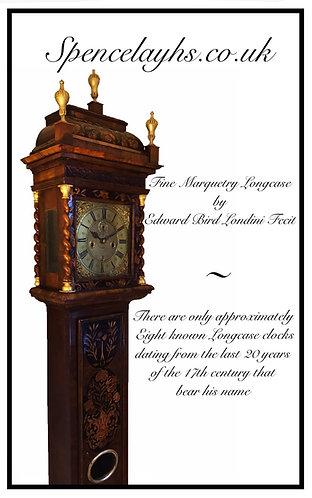 A Fine William & Mary Marquetry Longcase Clock by Edward Bird
