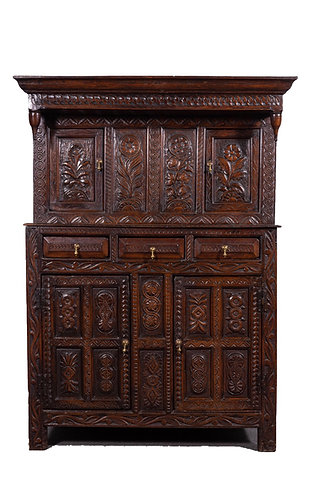 18th Century oak press cupboard