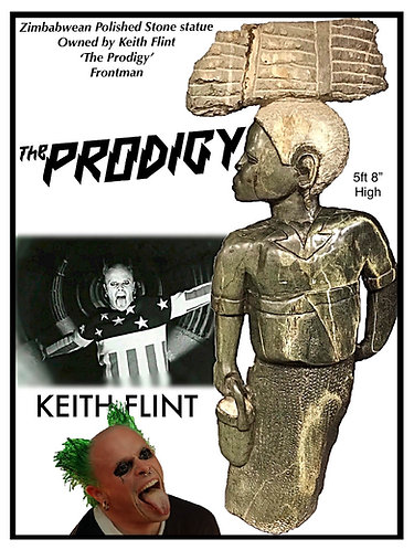 Intriguing Stone Statue From The Estate of The Late  Keith Flint of The Prodigy