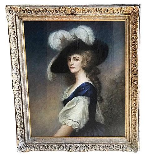 After Gainsborough Pastel Portrait