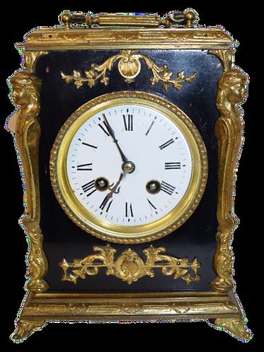 Ebonised 8-Day Mantle Clock