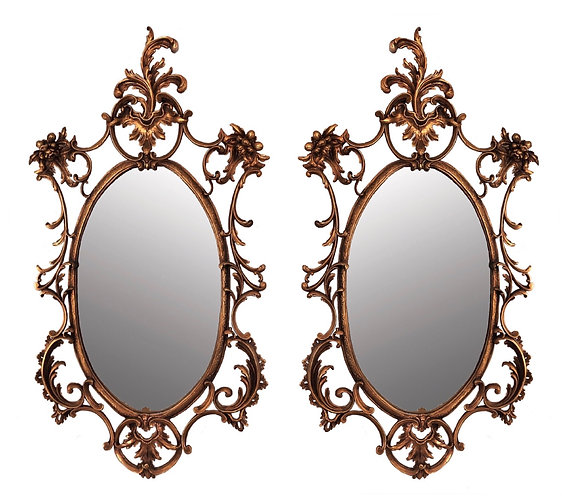 Fine pair of 19th Century Giltwood Mirrors in the Rococo Style
