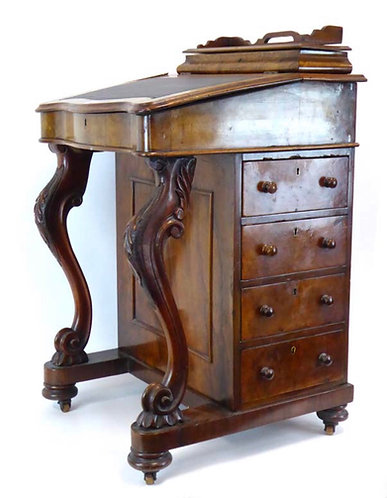 19th Century figured Walnut Davenport Desk Circa 1870