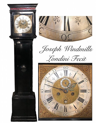 Fine Period Ebonised Longcase Clock by Joseph Windmills C.1705-1710