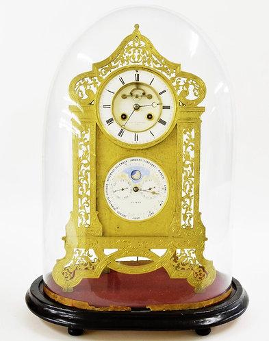 Fine perpetual Calendar Clock by Achille Brocot & Jean-Baptiste Delettrez