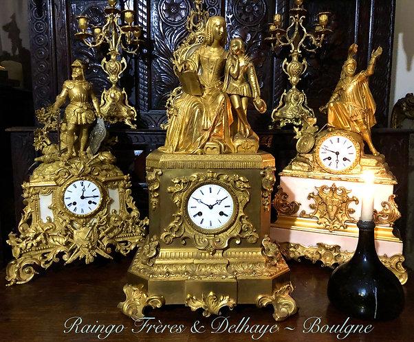 Fine French Empire Clock by Raingo Frères and Delhaye