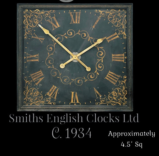 Large Wooden Smiths English Clocks Ltd internal/sheltered clock. c.1934
