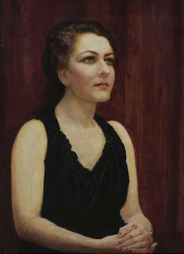 MID 20TH CENTURY, OIL ON CANVAS, PORTRAIT OF A LADY