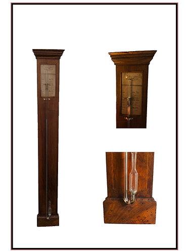 18th Century French Walnut Stick barometer