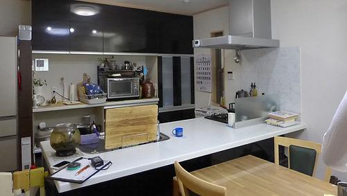 ダウン症お子さんの行動特性に配慮したキッチンの間仕切り_施工前